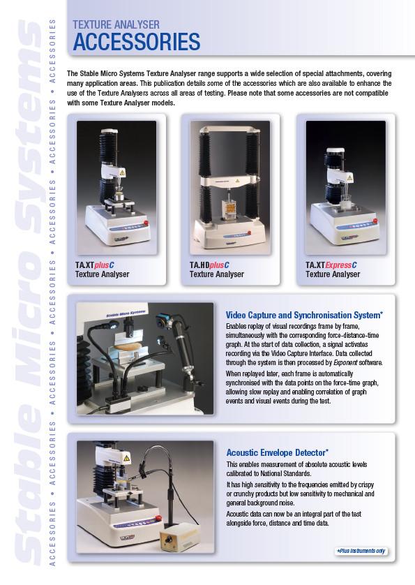 Texture Analyser Accessories